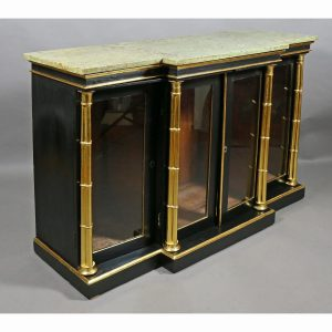 Regency Ebonized and Giltwood Credenza