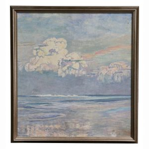 1 of 8 images California Seascape Oil on Canvas by Martha Eleanor Nicholson Hurst.