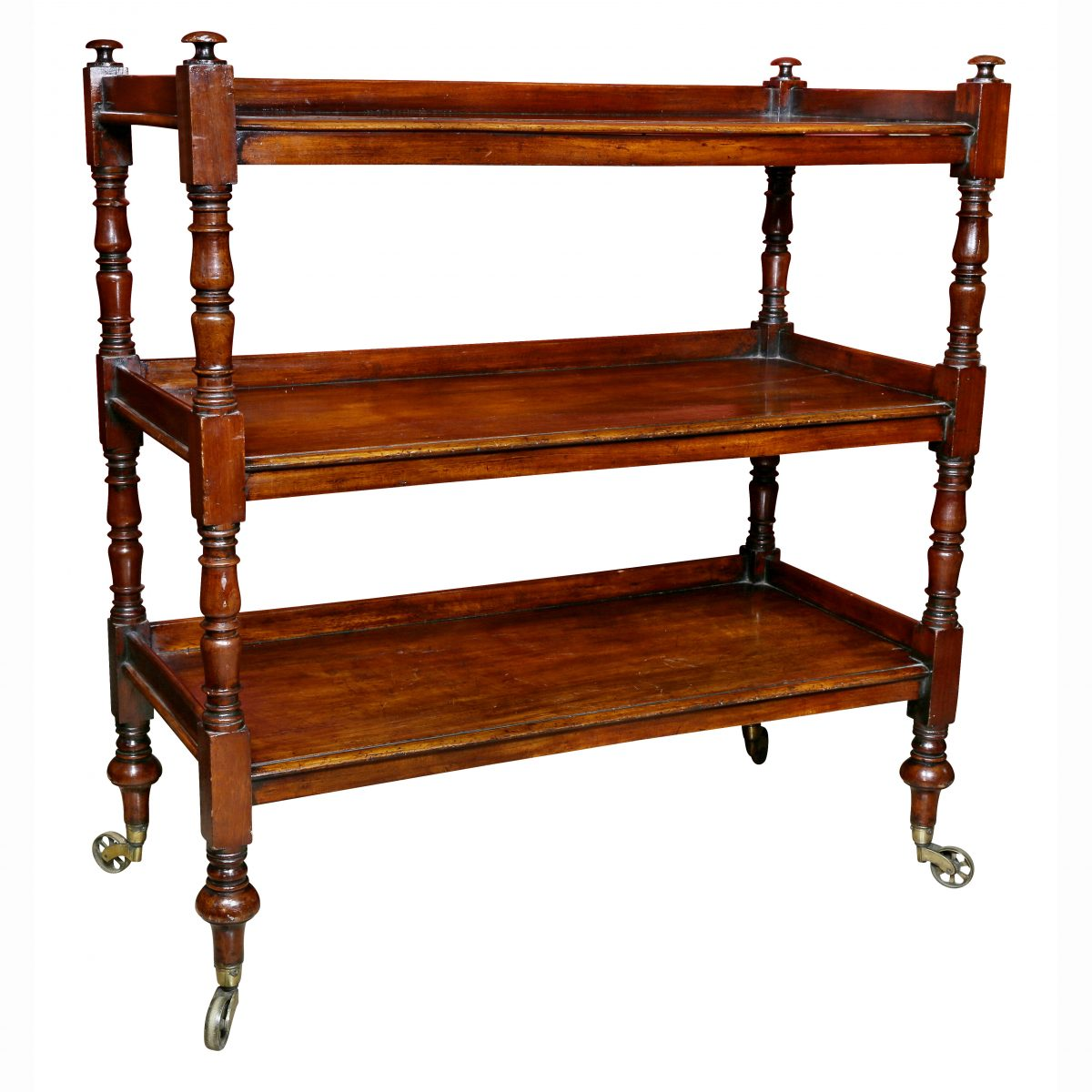 Regency Mahogany Book Trolly
