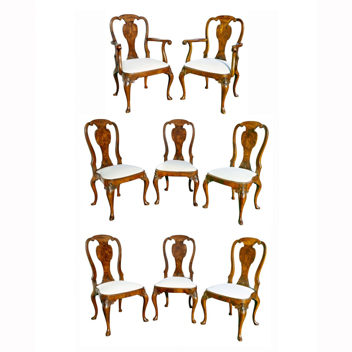 Miraculous Set Of Eight George I Style Walnut Dining Chairs Gamerscity Chair Design For Home Gamerscityorg