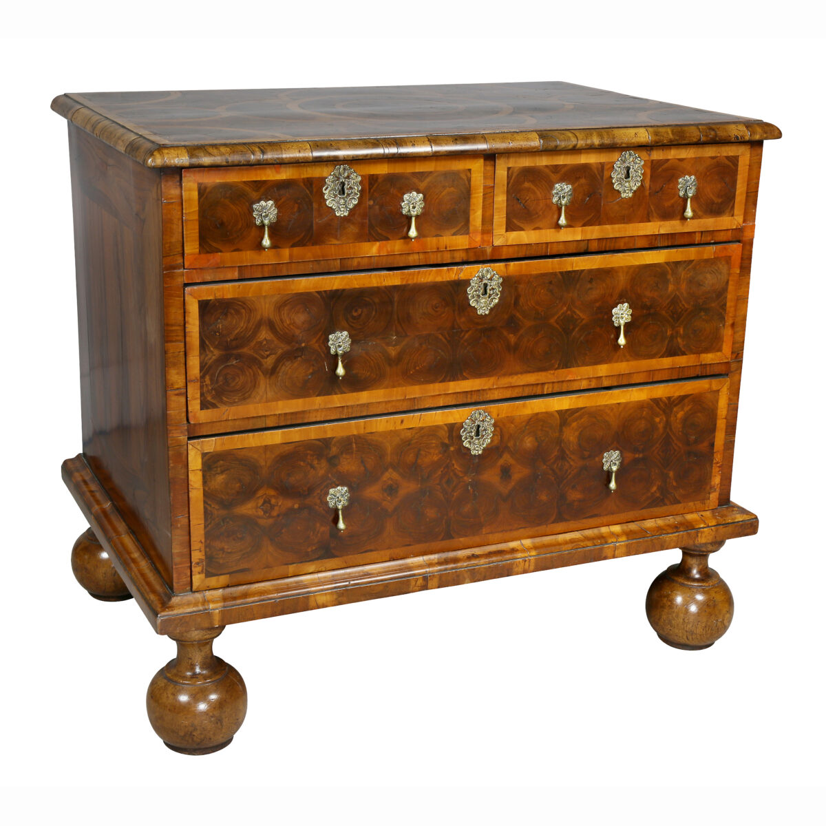 William and Mary Oyster Veneer Chest of Drawers