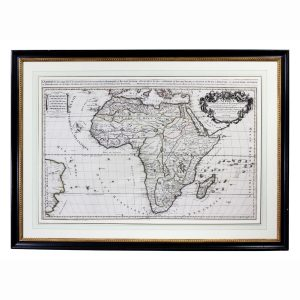 Framed Map of Africa by Hubert Jaillot