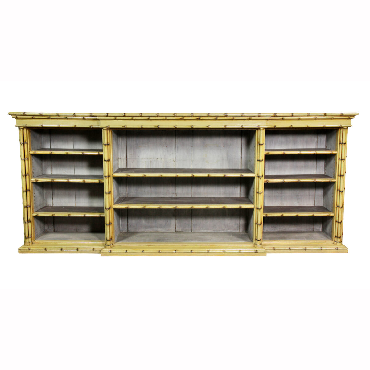 Victorian Faux Bamboo Open Bookcase
