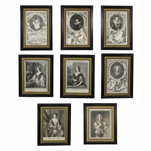 Eight Framed Engravings of European Royalty