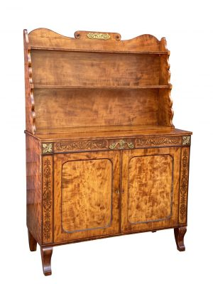 William IV Satinwood Credenza with bookcase