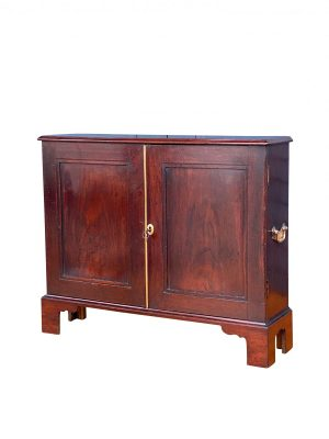 George III Oak Cabinet with a rectangular top