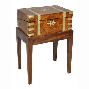 Victorian Burl Walnut and Brass Mounted Lap Desk