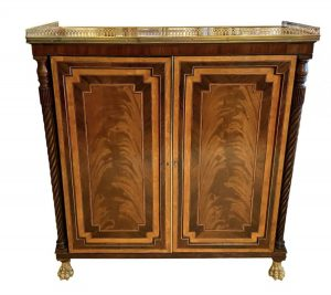 George III Mahogany and Satinwood Book Cabinet
