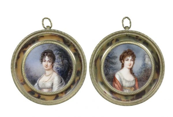 Pair of Miniature round Paintings