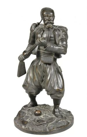 Bronze of a Russian Cossack