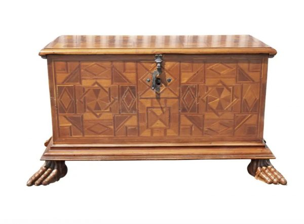 Spanish Late Baroque Parquetry Coffer