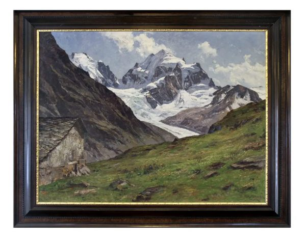 oil on canvas of alpine scene