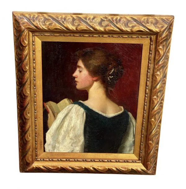 oil on canvas portrait of young girl