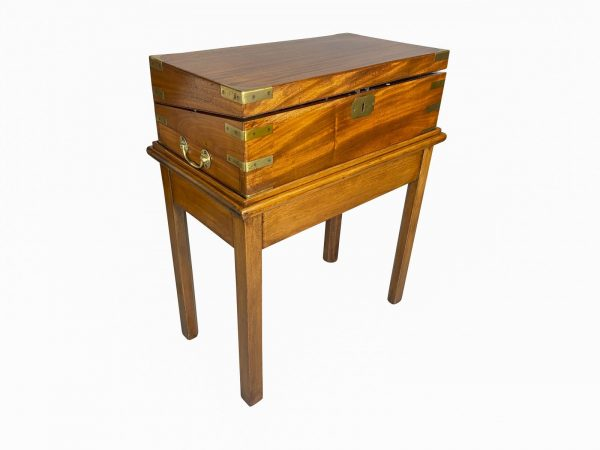 Victorian Mahogany and Brass Mounted Box on Stand