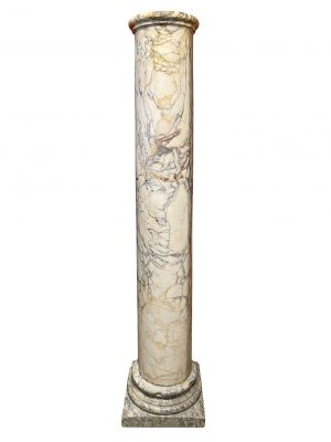 French Marble Column. The tall column sitting on a socle with square base.